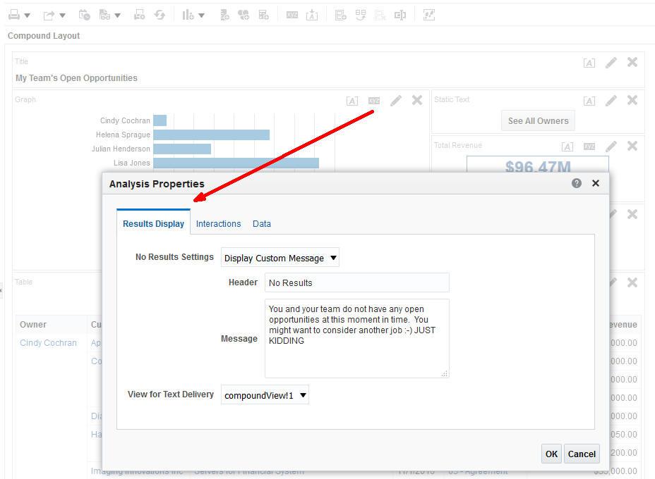 credible reports - add custom no results