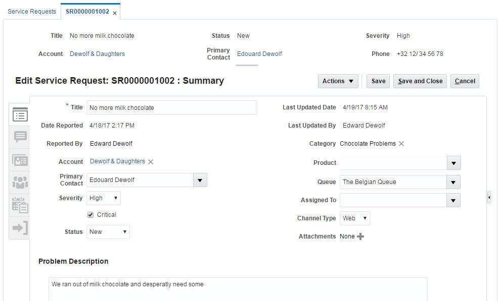 service request management service requests