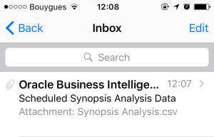 Synposis Email 1