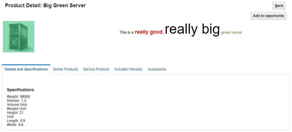 enriched sales catalog
