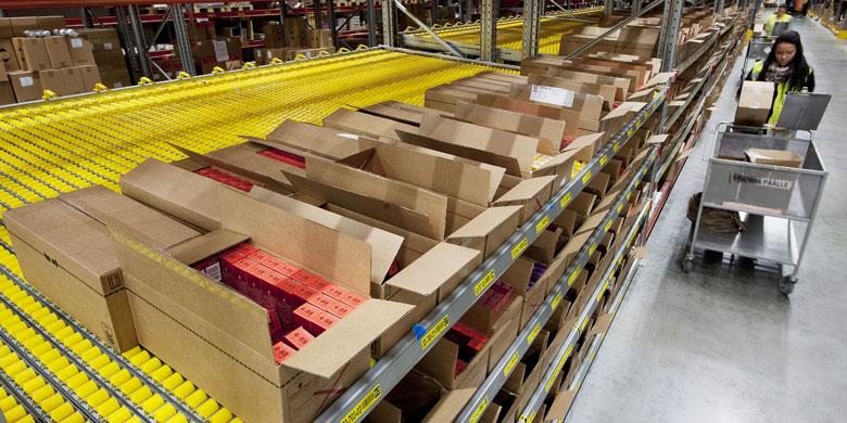 carton flow pallet racking
