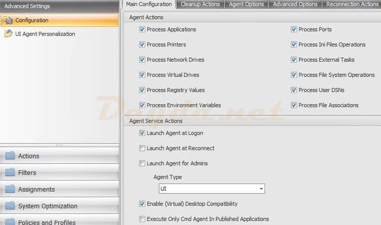 Advanced Settings Configuration Main Configuration
