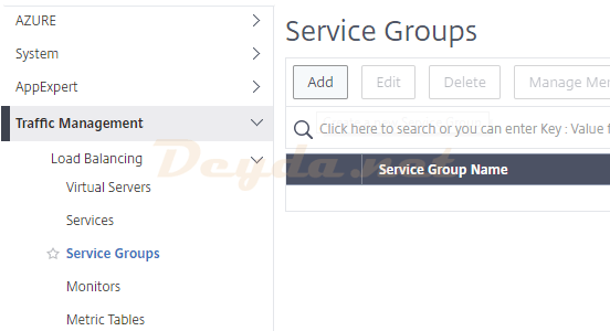 Citrix ADC Service Group Add