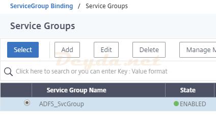 Load Balancing Virtual Server Service Group Binding