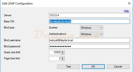 Edit LDAP Configuration