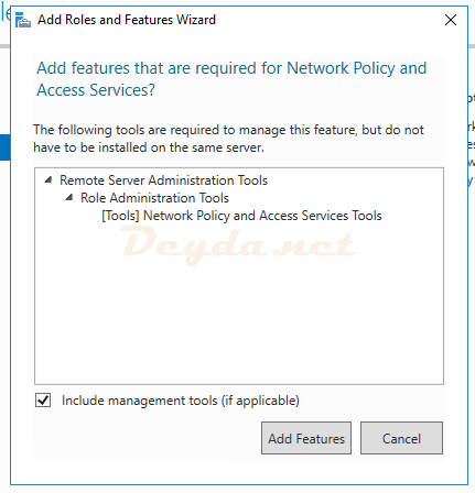 Add features that are required for Network Policy and Access Services