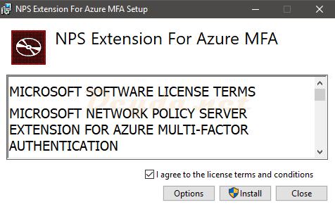 NPS Extension for Azure MFA Installer