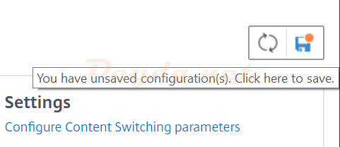 Save running config