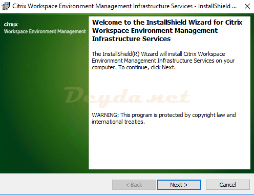 Citrix Workspace Environment Management Infrastructure Services