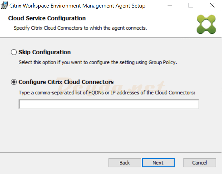 Cloud Service Configuration