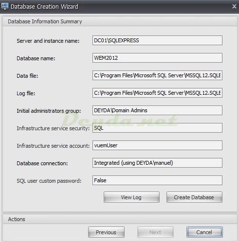 Database Information Summary