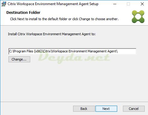 Citrix Workspace Environment Management Agent Destination Folder