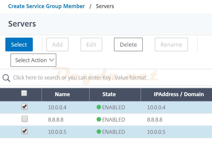 Servers Select