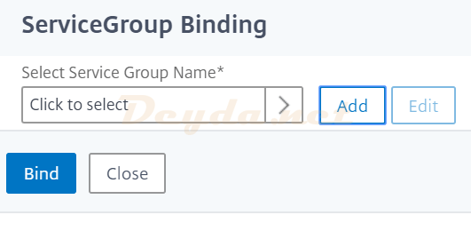 ServiceGroup Binding