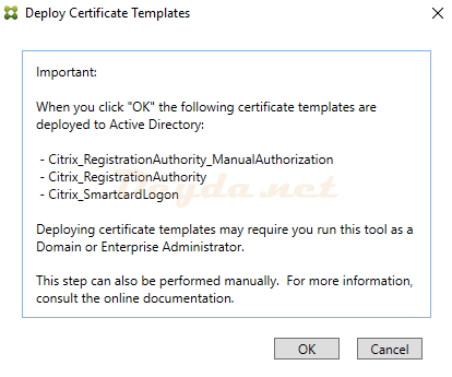 Deploy Certificate Templates FAS