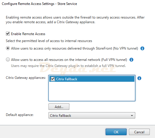 Configure Remote Access Settings - Store Service Enable Remote Access
