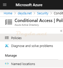 Conditional Access Named locations