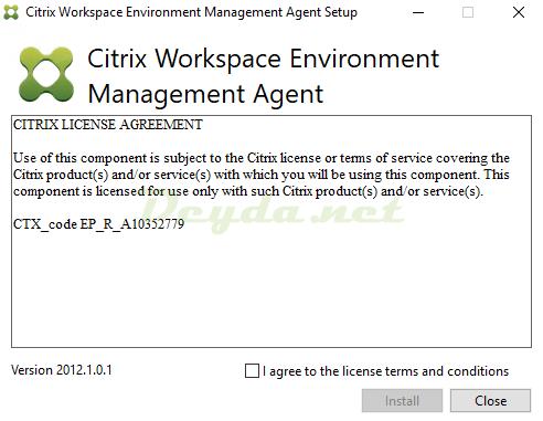 Citrix Workspace Environment Management Agent