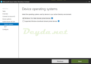 Device operating systems Windows 10 or later domain-joined devices supported windows downlevel domain-joined devices
