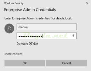 Windows Security Enterprise Administrator On-Prem