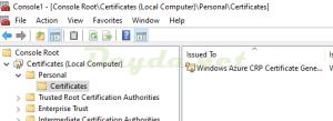 mmc certificate local computer personal