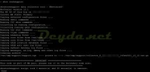 show techsupport -upload -username Citrix Username -password Citrix Password