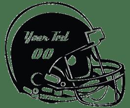 Personalized Football Helmet Wall Stickers