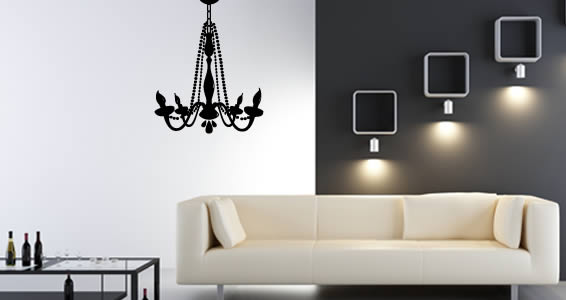 Chandelier Vinyl Wall Art