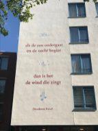 gevelgedicht Slaghekstraat van Dieudonné Kiesel ontwerp Haelsum, Jantien van Zandbergen