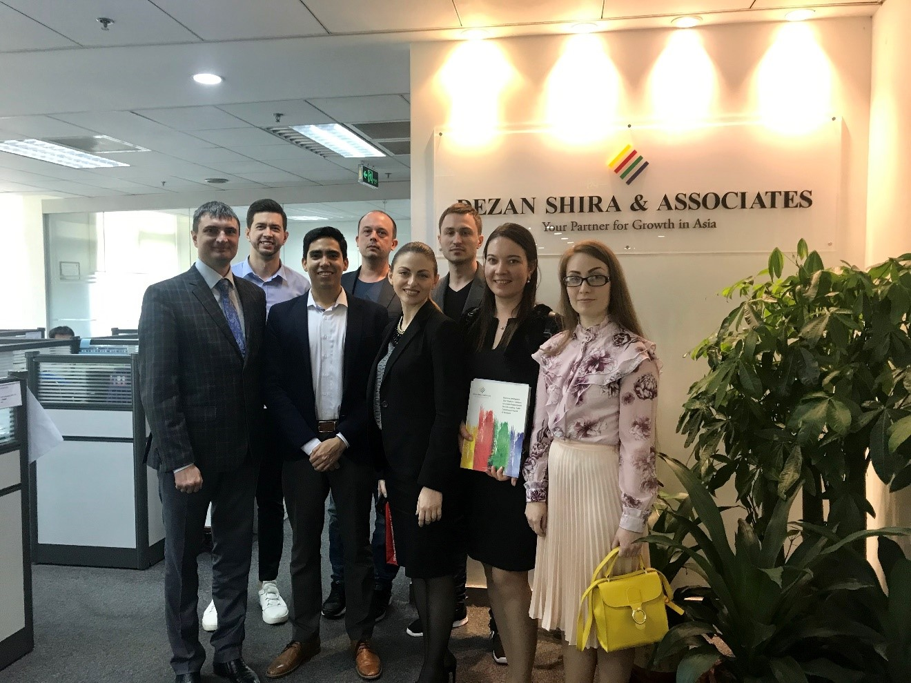 Juan and the Russian Business Delegation at Dezan Shira & Associates' Guangzhou office