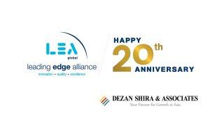 Dezan Shira & Associates' 20th Birthday Greetings to the Leading Edge Alliance