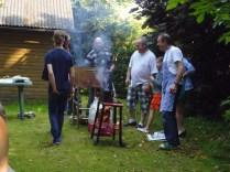 Dé mannenhoek :-) Emile, Geert en Eric als de Bakkende Binken!
