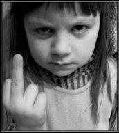 little girl finger