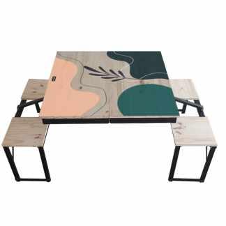 table dezyco motif arty flower
