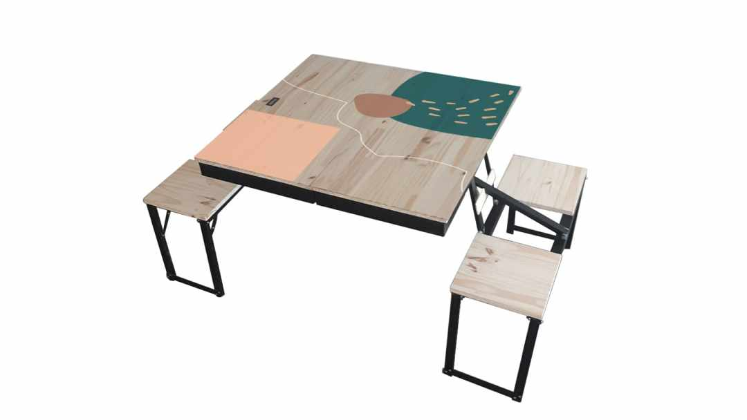 Table Dezyco motif Arty Scare