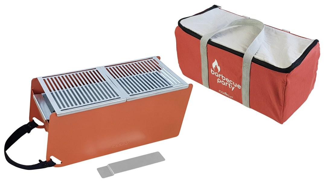Barbecue transportable et écoresponsable - couleur tuile