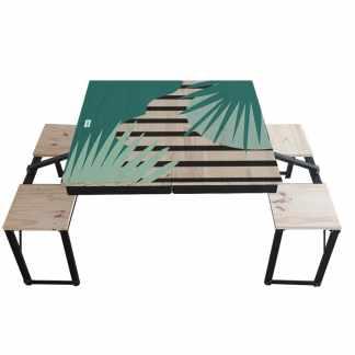 Table Dezyco motif Jungle Stripes