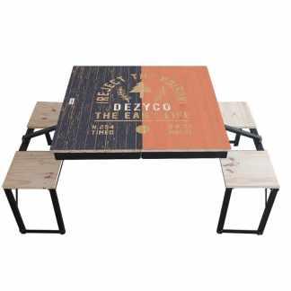 Table Dezyco motif Vintage Outdoor