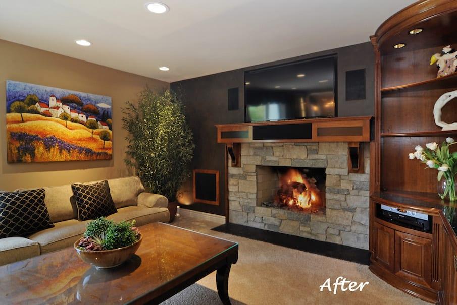 Family Room Design After Interior Design Consultation and Home Renovation
