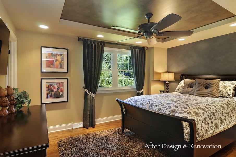 Custom Home Renovation Master Bedroom Design Build Furnish Palatine