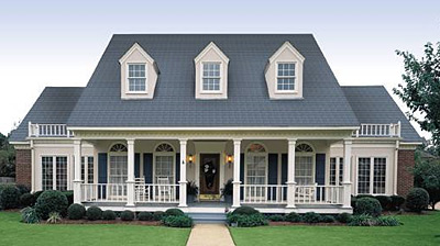 Architectural Styles click to view plan HHF 3604  colonial home plan