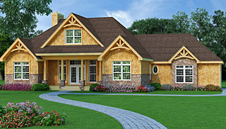 Craftsman House Plans   Craftsman Style Home Plans with Front Porch Craftsman House Plans Online