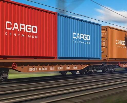 Cargo Train Container