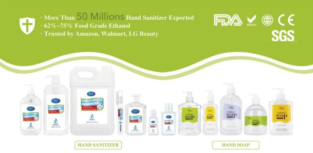 Hand Soap and Hand Sanitizer