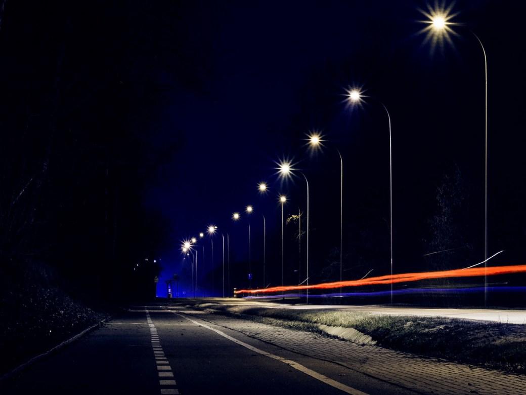 Gurgaon-Faridabad roadway LED lights DforDelhi