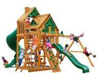 wooden swing set