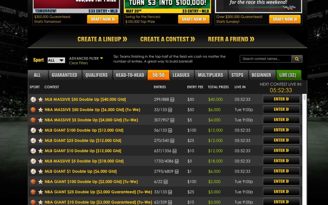 Strategy: Building Lineups For GPPs vs. Cash Games