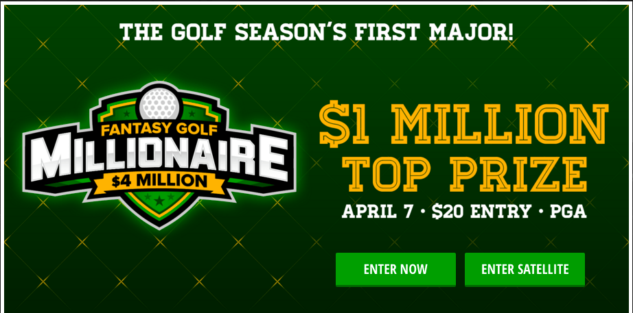 PGA, Masters Millionaire Maker Profit Share – DraftKings