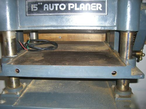 """Msc 15"""" industrial wood thickness auto planer - nice"""