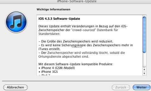 iOS 4.3.3 veröffentlicht – Das Consolidated Update